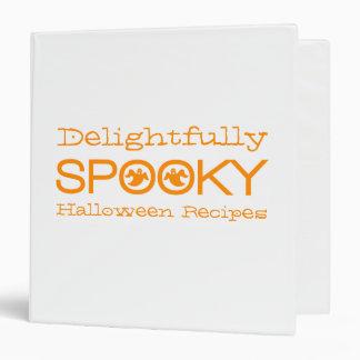 Spooky Typography Binder (1.5 inch), White/Orange
