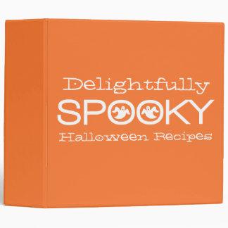 Spooky Typography Binder (2 inch), Orange & White