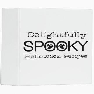 Spooky Typography Binder (2 inch), White & Black