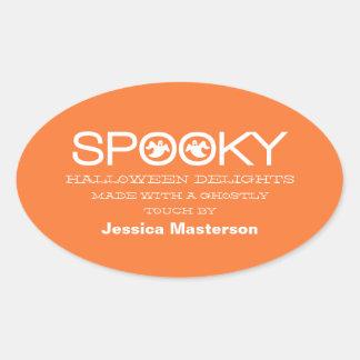 Spooky Typography Halloween Baking Stickers