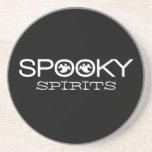 Spooky Typography Halloween Coaster