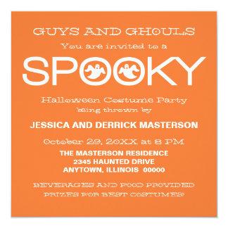 Spooky Typography Halloween Party Invite