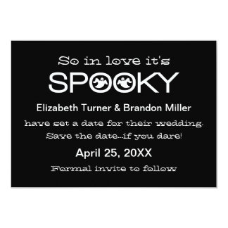 Spooky Typography Halloween Save the Date Card