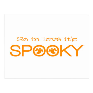 Spooky Typography Halloween Save the Date Postcard