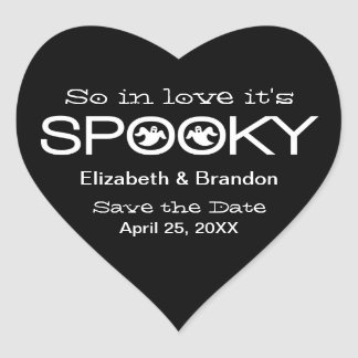 Spooky Typography Halloween Save the Date Stickers