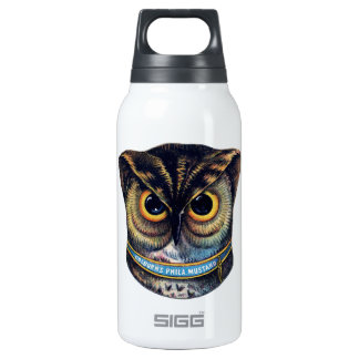 Spooky Victorian Owl - Colburns Mustard Insulated Water Bottle