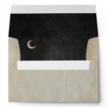 Spooky Vintage Halloween   Crescent Moon   Envelope