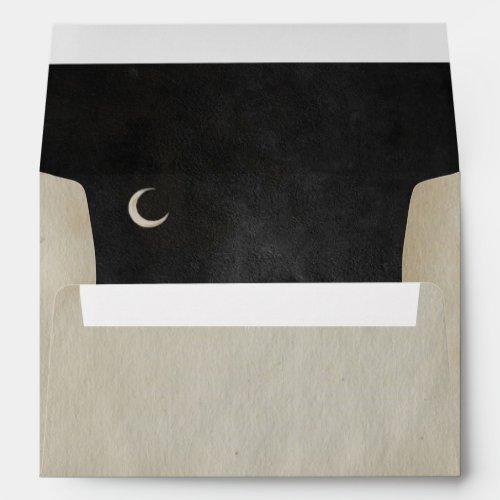 Spooky Vintage Halloween | Crescent Moon | Envelope