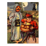 Spooky Vintage Halloween Postcard