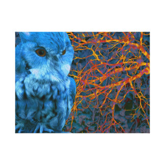 Spooky Watchful Owl Canvas Print
