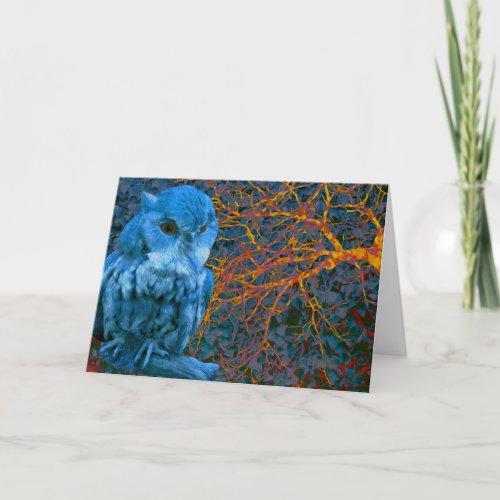 Spooky Watchful Owl Card
