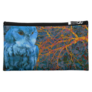 Spooky Watchful Owl Cosmetic Bag