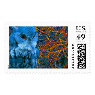 Spooky Watchful Owl Postage