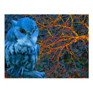 Spooky Watchful Owl Postcard