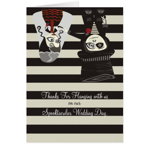 Spooky Wedding Thanks Greeting Cards