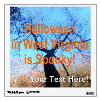 Spooky West Virginia Halloween Wall Sticker