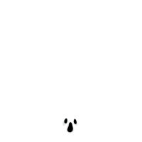 Spooky white ghost face Halloween novelty tie