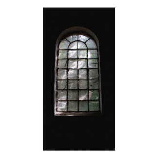 Spooky window photo card template