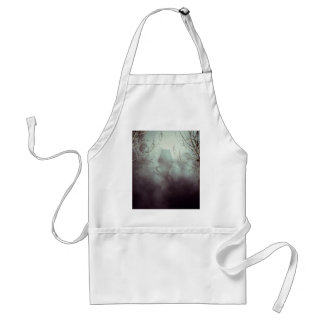Spooky Witch House in Mist Adult Apron