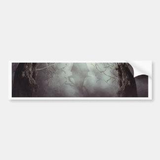 Spooky Witch House in Mist Bumper Sticker