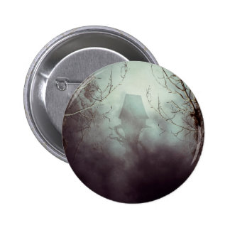 Spooky Witch House in Mist Pinback Button