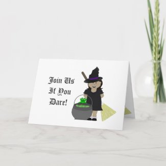 Spooky Witchs Brew card