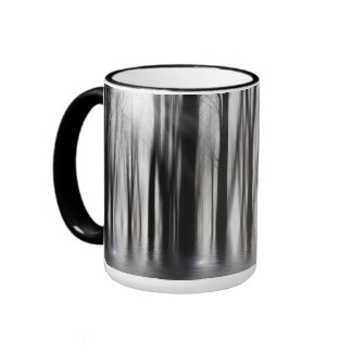 Spooky woods in BW with flooding Ringer Mug