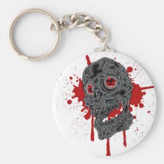 Spooky Yet Goofy Drip Skull design Keychain