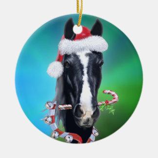 Spooky's Christmas BG Ceramic Ornament