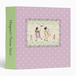 Spool of thread & button people lace sewing binder