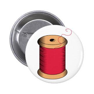Spool of Thread Pinback Button