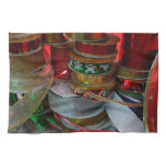 Spools of Christmas Ribbon Holiday Red and Gold Hand Towel
