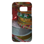 Spools of Christmas Ribbon Holiday Red and Gold Samsung Galaxy S7 Case