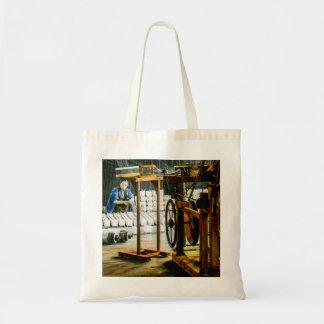 Spools of Silk in Factory Old Japan Vintage Tote Bag