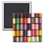 Spools of Thread 2 Inch Square Magnet