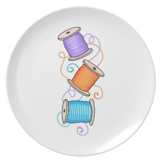 SPOOLS OF THREAD DINNER PLATES
