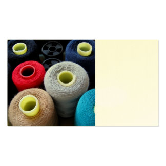 Spools of Yarn Business Card Templates