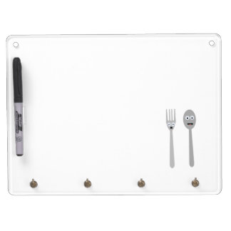 Spoon and Fork Kawaii Zqdn9 Dry Erase Board With Keychain Holder