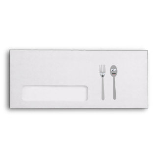 Spoon and Fork Kawaii Zqdn9 Envelope