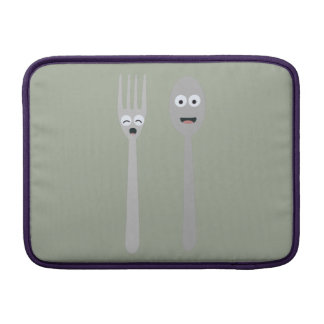 Spoon and Fork Kawaii Zqdn9 MacBook Sleeve
