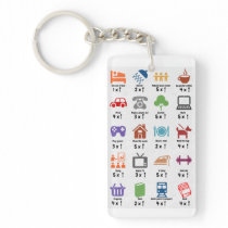 Spoon counter keyring