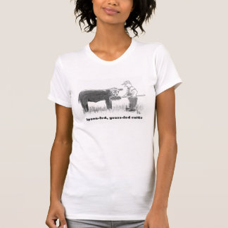 Spoon-fed, grass-fed cattle T-Shirt