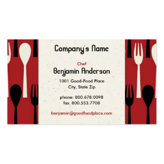 Spoon & Fork Business Card