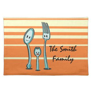 spoon fork spork humor kawaii cute utensil eating placemat