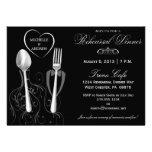 Spoon & Fork Wedding Rehearsal Dinner Invitations