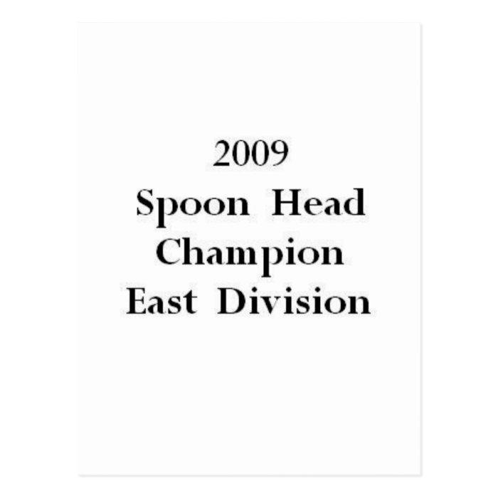 Spoon Head Champion Postcard