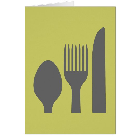 Spoon Knife Fork Graphic Card