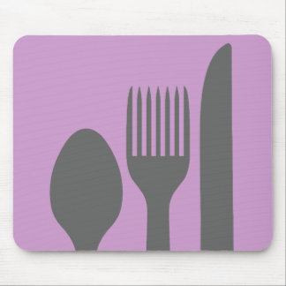 Spoon Knife Fork Graphic Mouse Pad