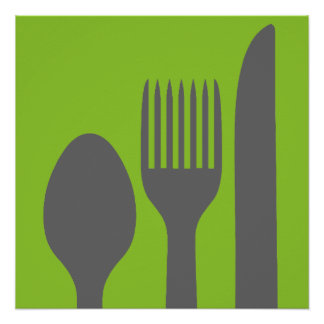 Spoon Knife Fork Graphic Poster