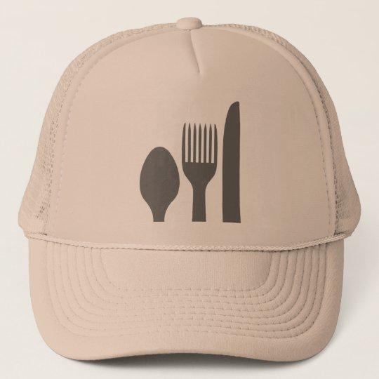 Spoon Knife Fork Graphic Trucker Hat